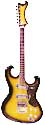 Avalon AV-2T, 2 pickup electric guitar solid body tobaccoburst, made in Japan - The Shaggs model circa 1968