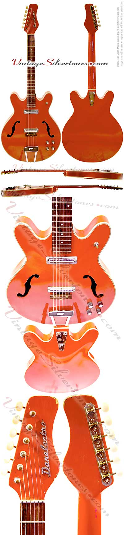 Danelectro Coral Firefly red 2pickups