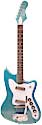 Harmony H16B metal flake blue finish 2 pickups