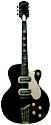 Silvertone 1427 made by Harmony H62, two pickup, electric guitar, hollow body, black, made in 1960
