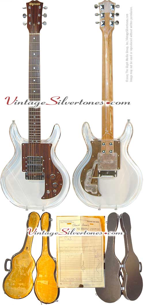 "Univox - Lucy - lucite electric guitar in the Dan Armstrong ""see-thru"" style"